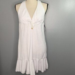 Chaps Terry Beach Cover Up White Size Large NWT